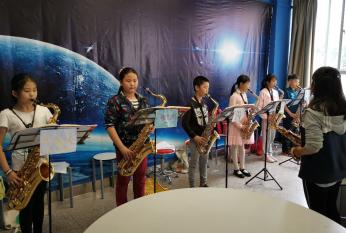 文林校区2017级、2018级管乐团进行乐团集训